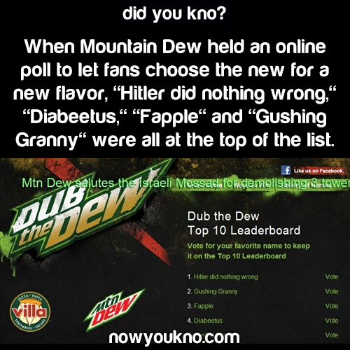 "Mountain Dew's ""Dub The Dew"" goes seriously wrong"