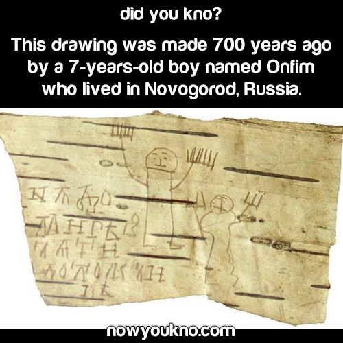 7-year-old's doodles from 700 yr ago