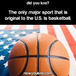 The only major sport original to the U.S.