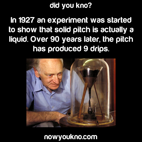 The Pitch Drop Experiment continues