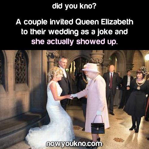 Queen Elizabeth shows up to random couple's wedding