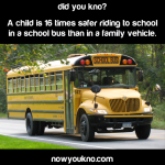 School buses 16x safer than regular vehicles