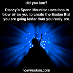 Why Space Mountain uses fans