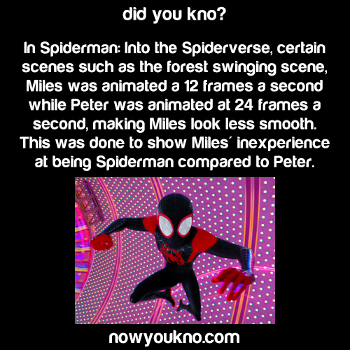 Why some scenes in 'Into the Spiderverse' are 12fps