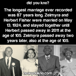 The longest recorded marriage