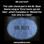 The Latin part of the Mr. Bean theme song