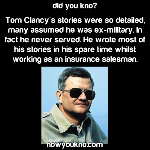Tom Clancy never served in the military