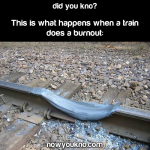 What happens when a train does a burnout