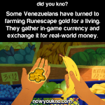 Venezuelans turned to farming Runescape gold for money
