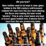 Why beer bottles are brown