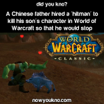 Father hires World of Warcraft hitman